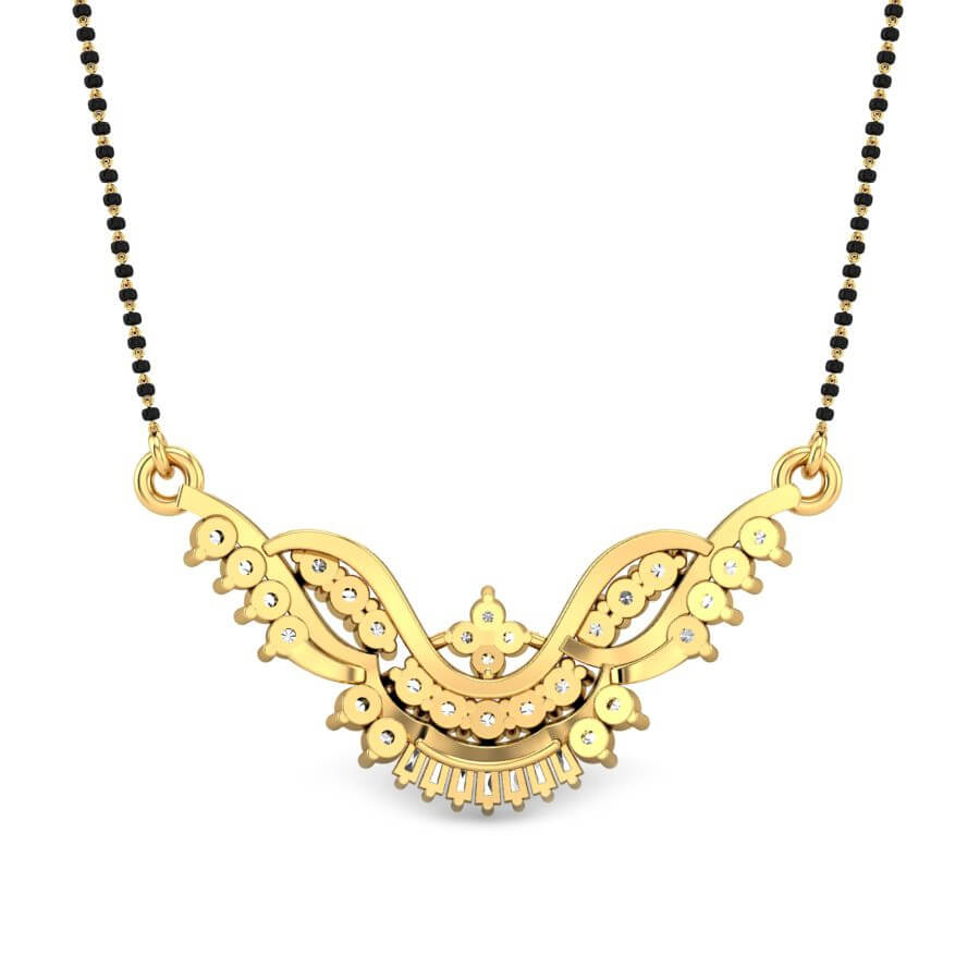 The gallery for --> Contemporary Diamond Mangalsutra Designs