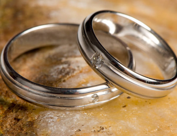 Couple rings in silver
