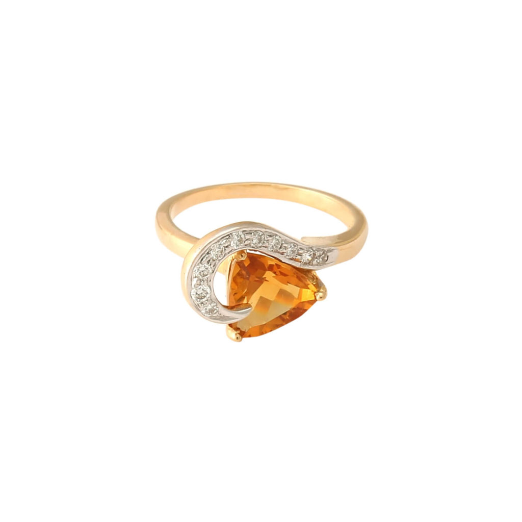 Tanishq Yellow Gold Diamond Finger Ring