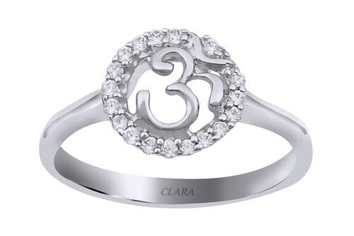 The Om Silver Ring
