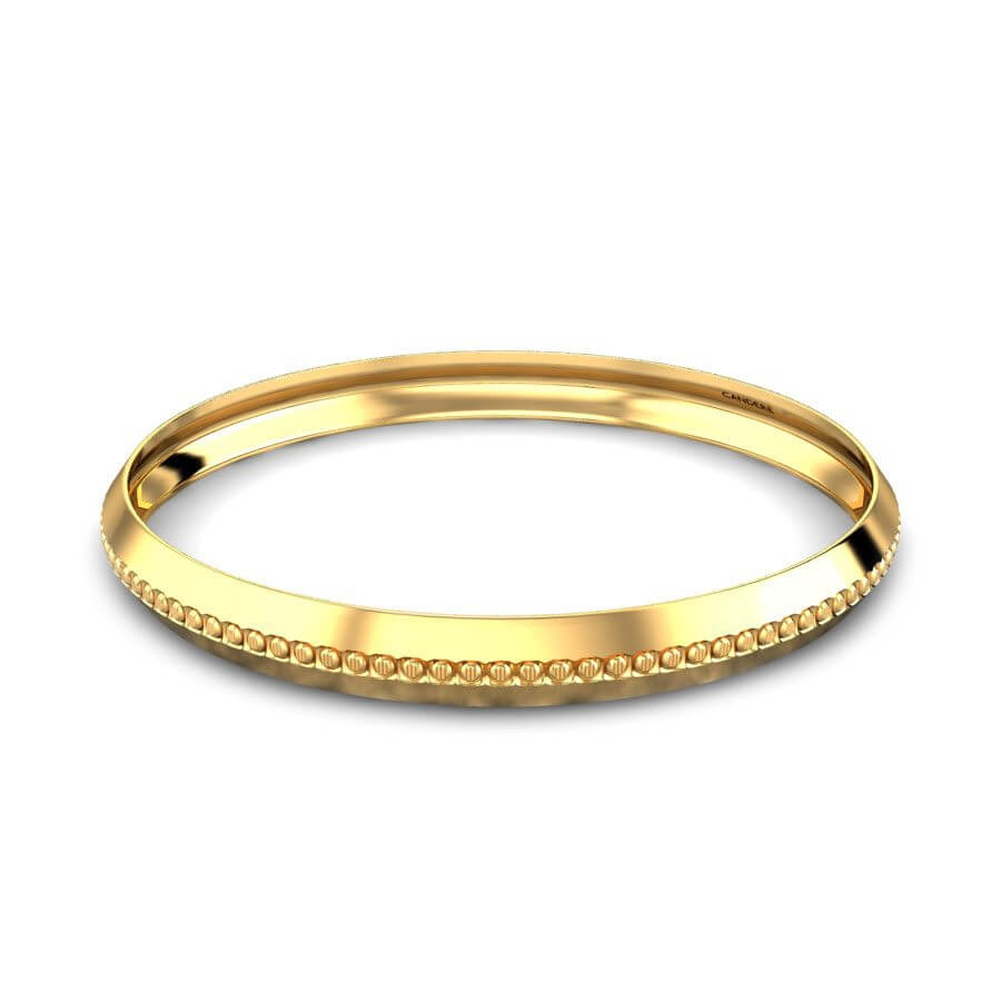 Gold Designer Kada For Him
