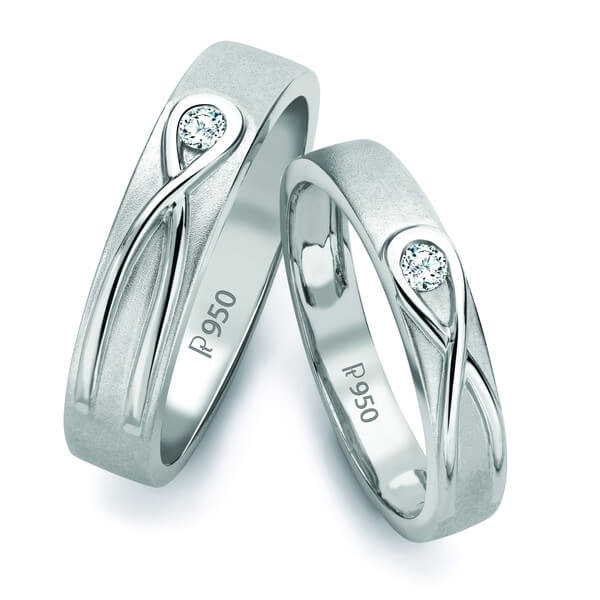 Infinity Knot Solitaire Love Bands