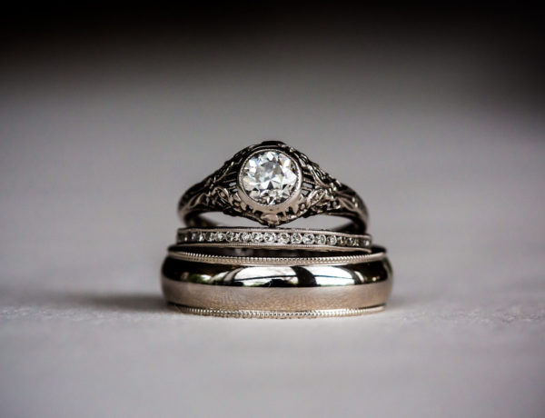 Platinum diamond rings for wedding