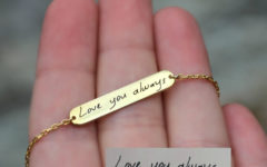 personalized bracelet for women in gold