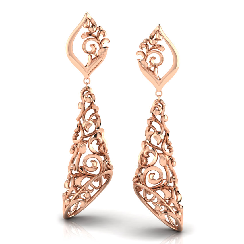 big jhumka gold earrings