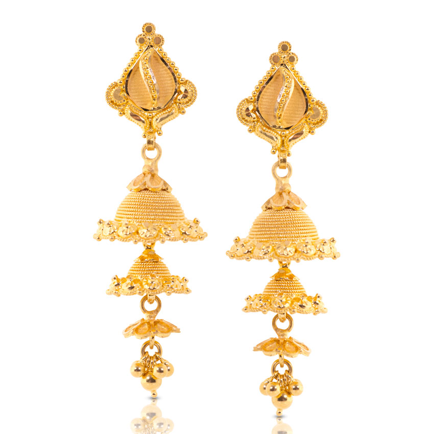 madrasi gold jhumka designs
