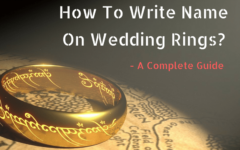 How To Write Name On Wedding Rings