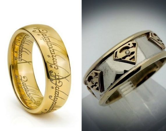 Movie Inspired Wedding Rings Awesome Geeky Couples