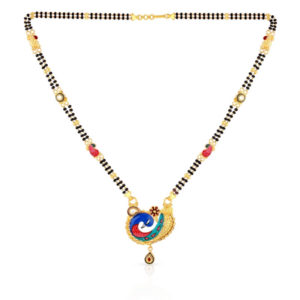 Peacock gold mangalsutra (1)