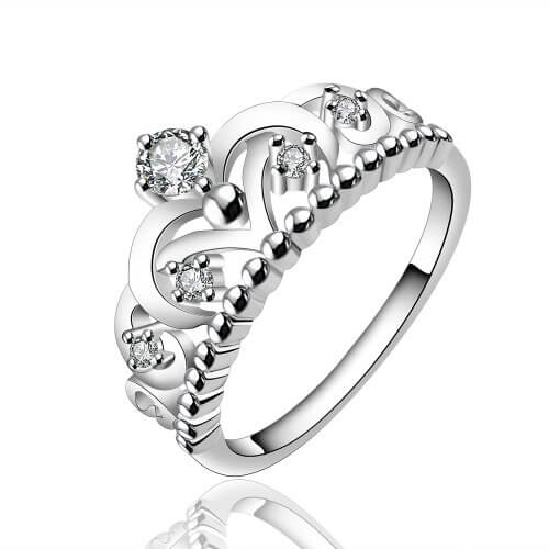 Royal Crown Silver Plated Ring For Women