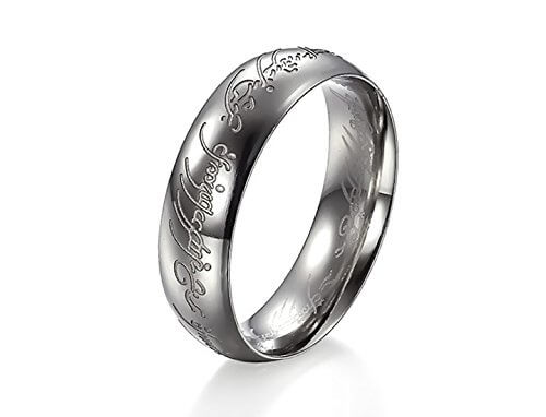 Silver Ring for Men - Lord of the ring(the one ring)