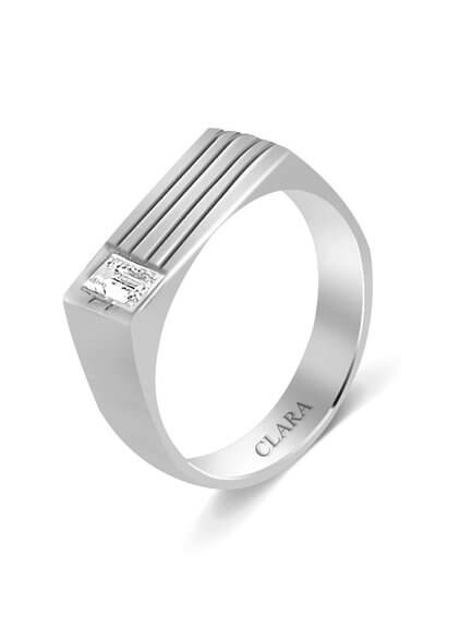 Strips Silver Ring For Men With Store