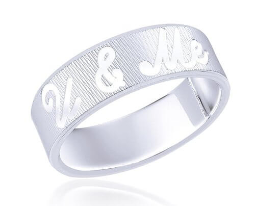 U & Me Sterling Silver Ring