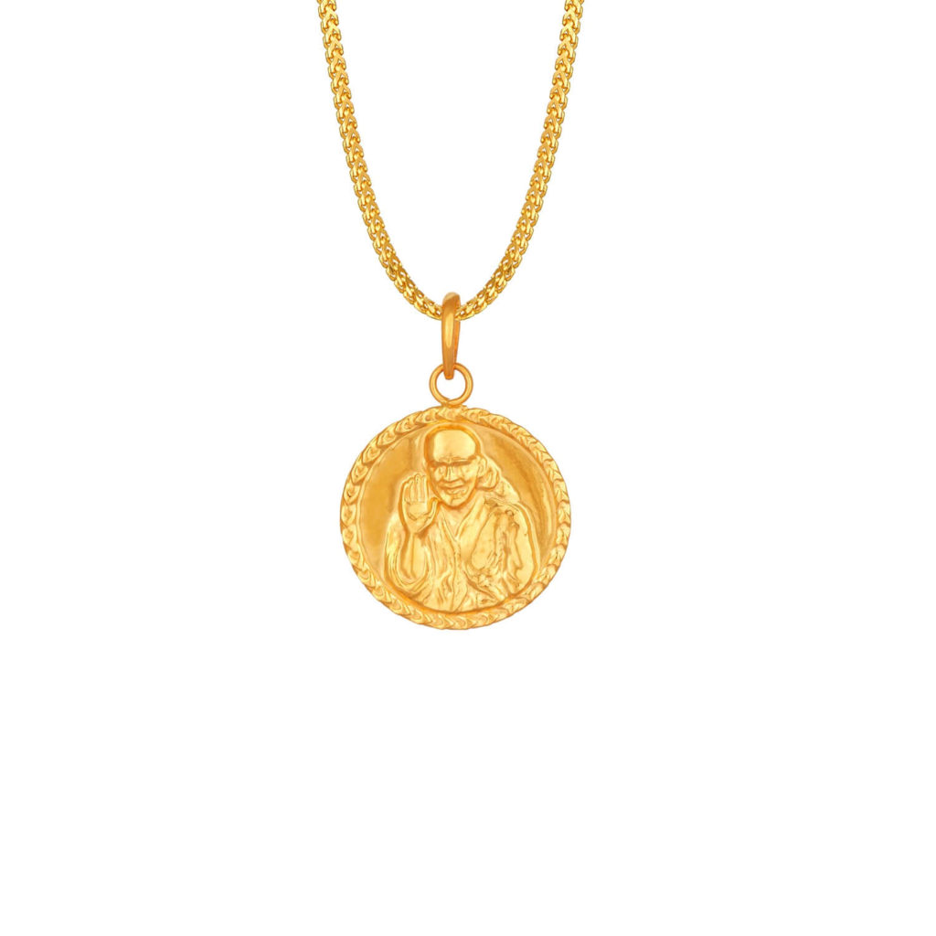 Sai Baba Gold Pendant Locket Designs Bring Blessings Of
