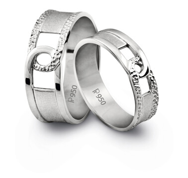Platinum Couple Rings For Wedding