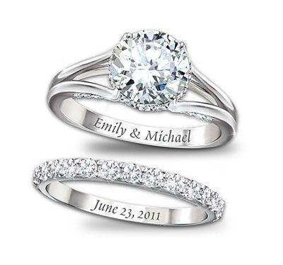 15 name engraved ring designs that are perfect for wedding