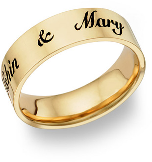 Gold Wedding Rings With Names