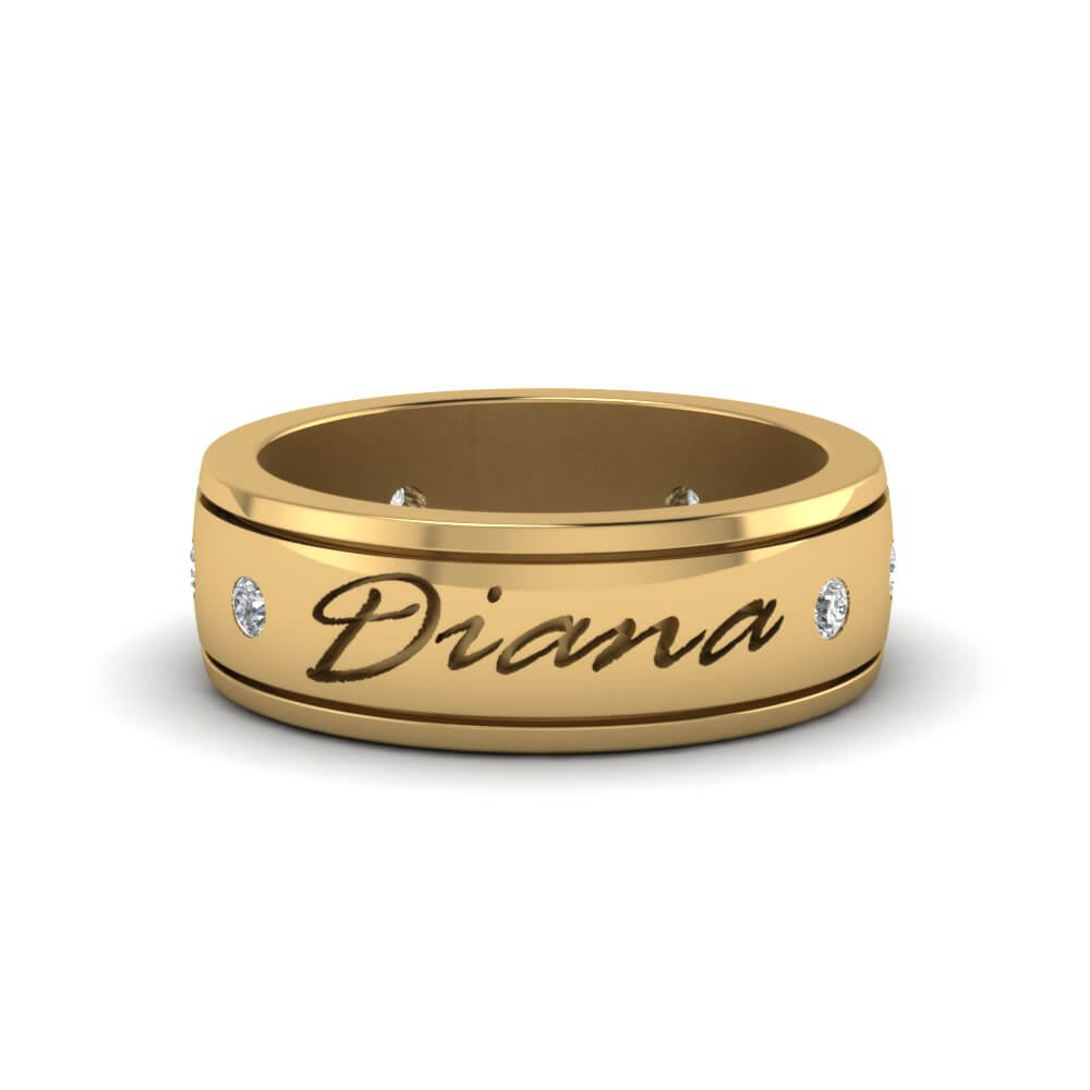 20+ Beautiful Wedding Rings With Name Engraved For Couples
