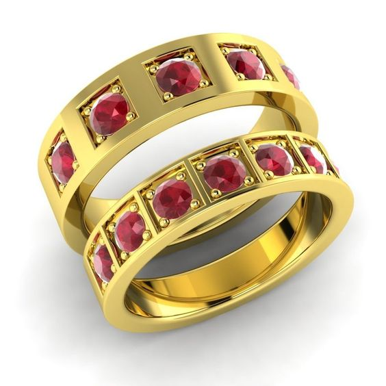 couple-rings-with-ruby-stones