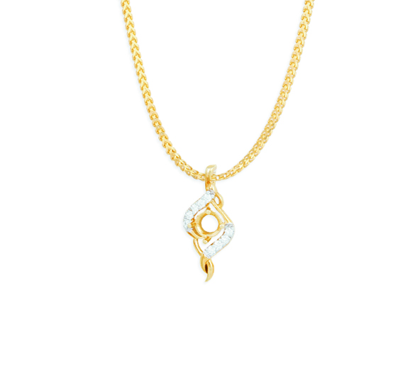 tanishq small diamond pendant for women