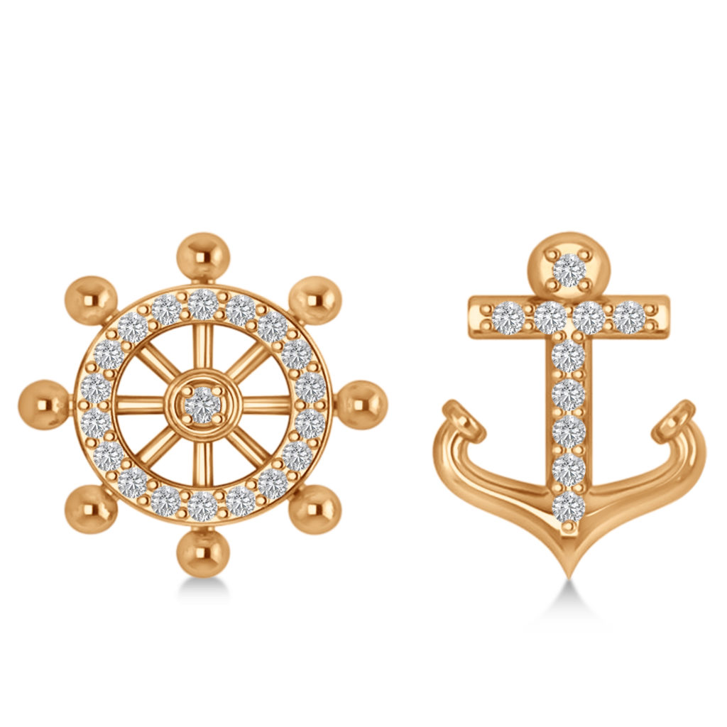anchor-ships-wheel-diamond-mismatched-earrings