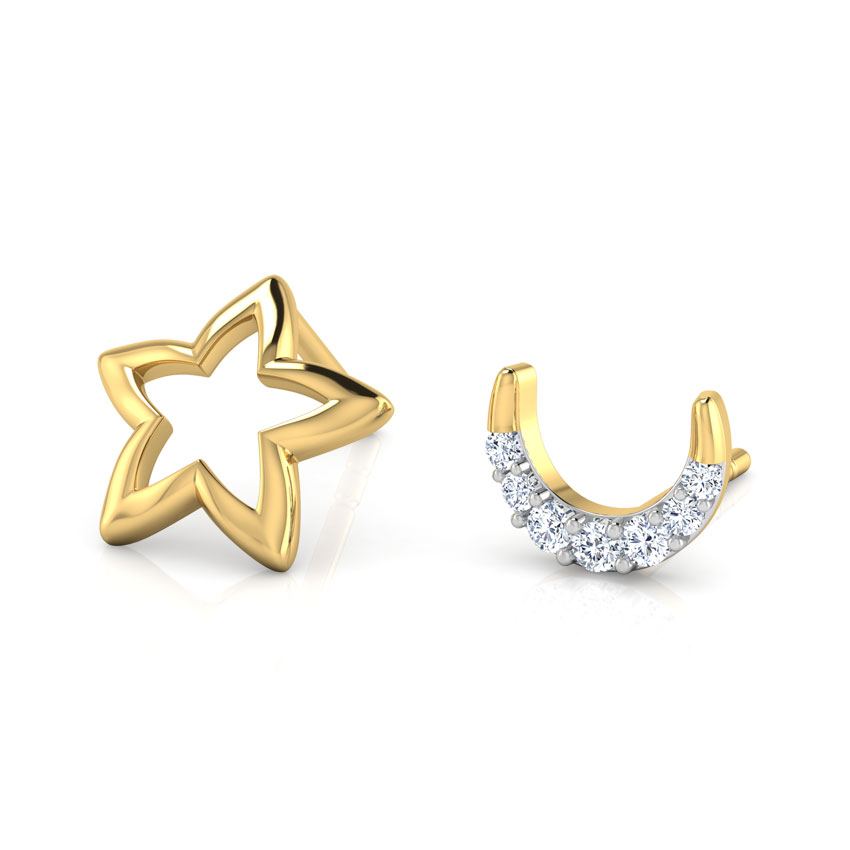 star-moon-mismatched-earrings