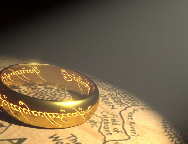 customized lotr ring for wedding couple