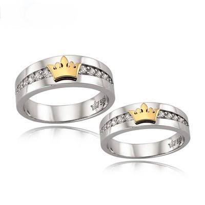 king and queen crown wedding rings 15 king and promise rings for wedding couples 5313