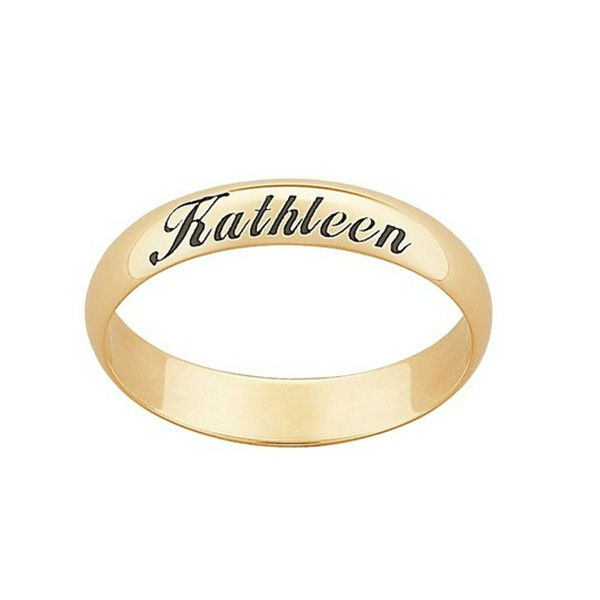 Gold Name Ring Model