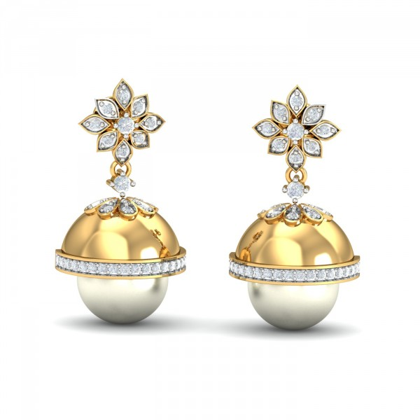 light weight gold jhumka designs with price