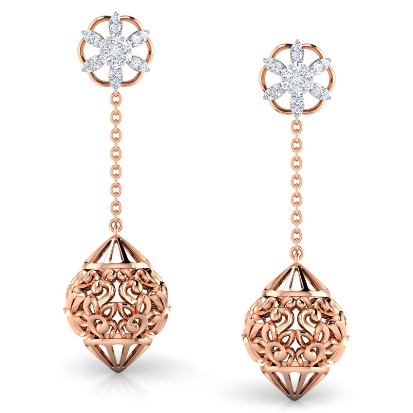 rose gold jumka earring designs
