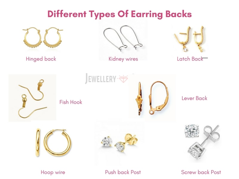 Here S A List Of Diffe Types Earring Backs Available
