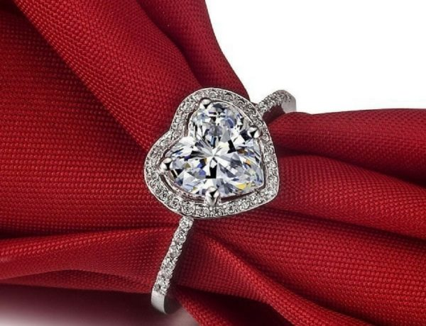 Heart Shaped Engagement Ring Designs