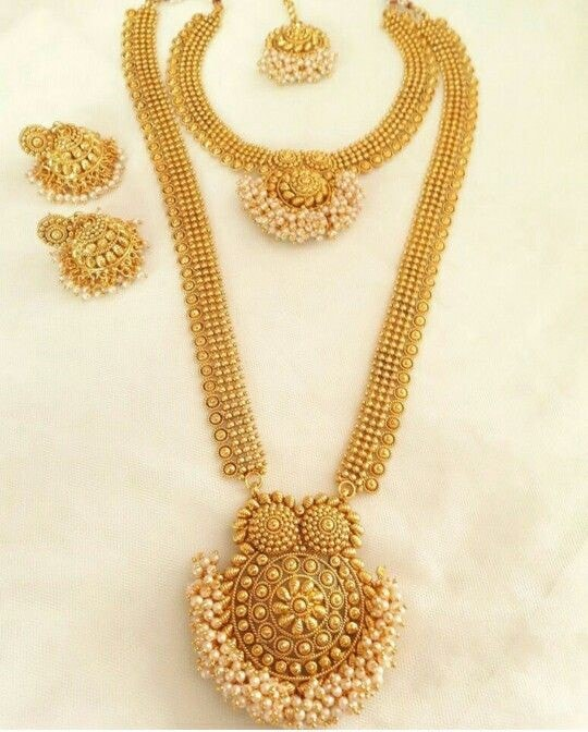 Indian Gold Jewellery Necklace Designs With Price: South Indian Jewellery Designs For Brides To Look Drop