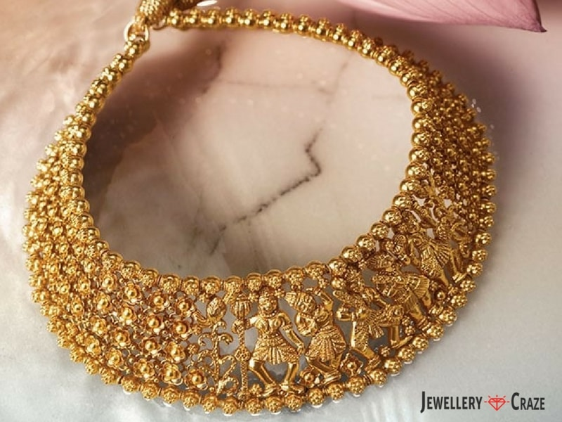 gold on ethnic and pinterest belliappa by necklace rishika indian india jewelry pin diamonds