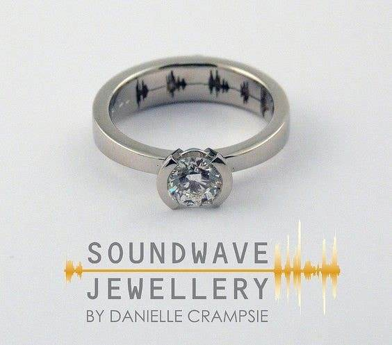 Wedding Rings With Voice Waves Men S Custom Soundwave Ring