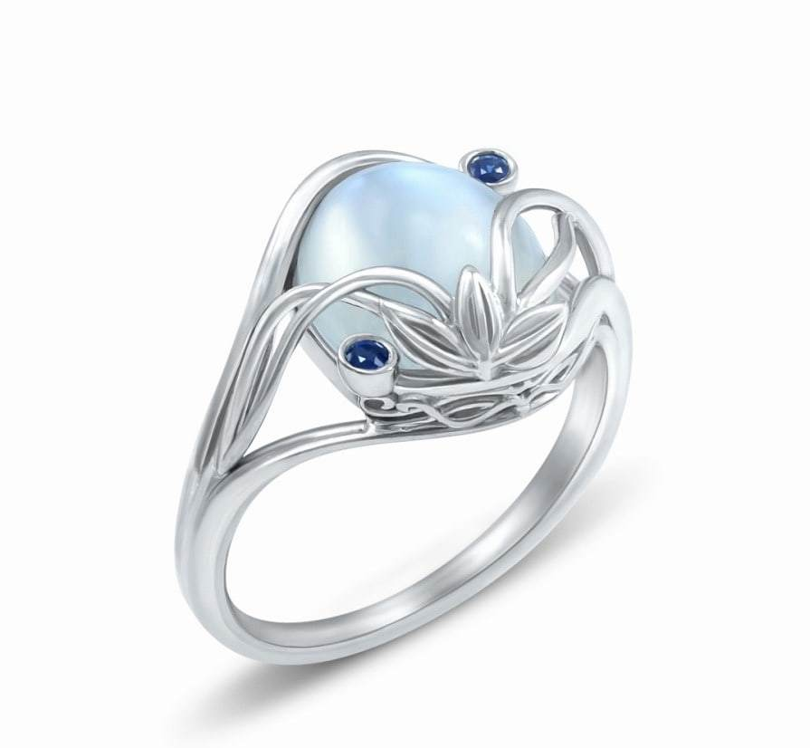 gem inspired on come a awesome geeky wedding for s is ring lover blue this true dream elvish rings beautiful moonshine platinum perfectly light carved fairytale every womens engagement movie couples