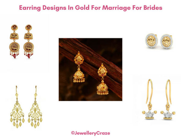 9fd863af57c Earring Designs In Gold For Marriage For Brides With Inspiration