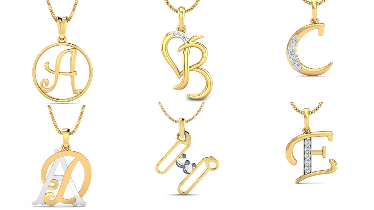 Alphabet Pendant Designs In Gold Gold Lockets With Letters